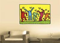 Keith Haring 5 - Pop Art . Comic . Retro . Cult