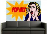 Adesivo Pop Art 1 (roy Lichtenstein) - Pop Art . Comic . Retro . Cult