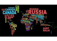 Mapa Mundi 3 Nomes Coloridos - Mapa Mundi