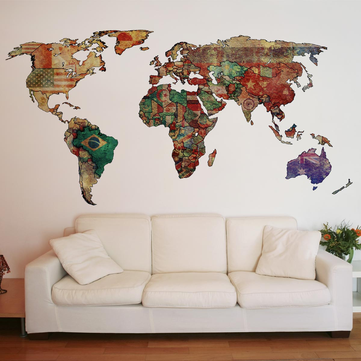 comprar mapa mundi para parede Adesivos de Parede   Papel de Parede Adesivo   Cole Decore comprar mapa mundi para parede