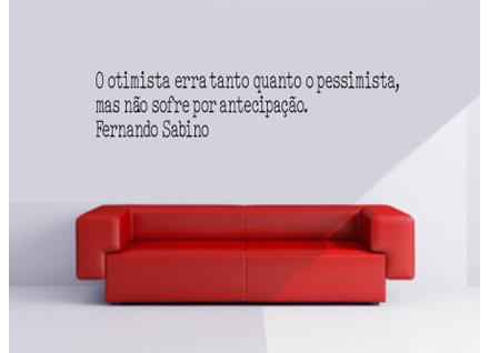 Adesivo De Parede Frase Fernando Sabino 1 Cole Decore