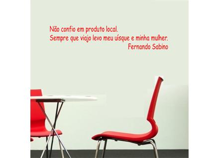 Adesivo De Parede Frase Fernando Sabino 2 Cole Decore