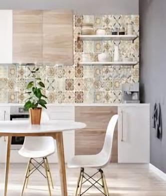 Adesivo De Parede Cozinha Imitando Azulejos Cole Decore